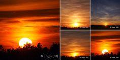 Na parádní západ Slunce není nutné ani moře, ani hory, ale dívat se !