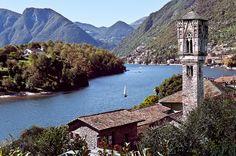Il Campanile, Ossuccio, Lake Como by Alan Gubbay