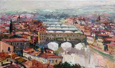 Buy The bridges of Florence - Italy Landscape painting, Oil painting by Anastasiya Valiulina on Artfinder. Discover thousands of other original paintings, prints, sculptures and photography from independent artists.