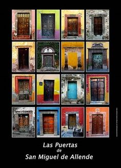 The doors of San Miguel de Allende are stunning.  I could spend days just walking around looking at doors!