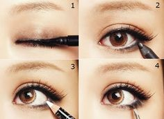 4 steps to cute eyeliner http://asianpose.com/2010/11/cute-or-sexy-two-different-eyeliner-looks/