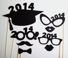 Items similar to 2014 Graduation Photo Booth Props - Grad Party - 8 Pieces - Class of 2014 on Etsy 8th Grade Graduation, Graduation Party Themes, Graduation Banner, Graduation Celebration, Graduation Party Invitations, High School Graduation, Graduation Photos, Grad Parties, Graduation Gifts