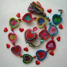 replace hearts with flowers. & look at that tassel!