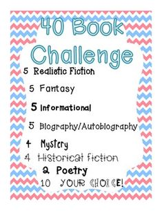 Free 40 Book Challenge--Book Talk template | TpT | Pinterest | 40 ...