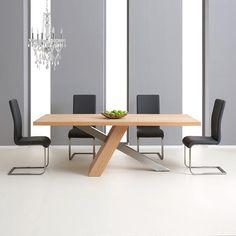 Montana Oak 180cm Dining Table with 4 Malibu Chairs
