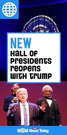 The Hall of Presidents at the Magic Kingdom reopened today after a lengthy refurbishment. This refurbishment adds in Donald Trump as the current president who delivers a speaking role
