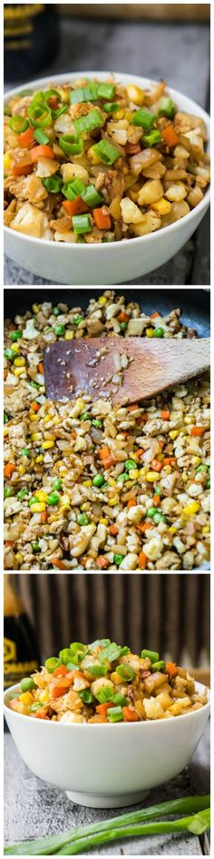Cauliflower Fried Rice - All the yumminess of fried rice, non of the carbs.