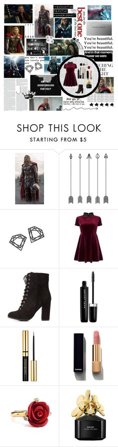 """""""★And You Sir, You're Very Attractive. Therefore, I Will Stare At You.★"""" by xo-nataliiee-xo ❤ liked on Polyvore featuring Me Too, Myia Bonner, Tokyo Rose, Miss Selfridge, Charlotte Russe, Marc Jacobs, Chanel, Oscar de la Renta and BERRICLE"""
