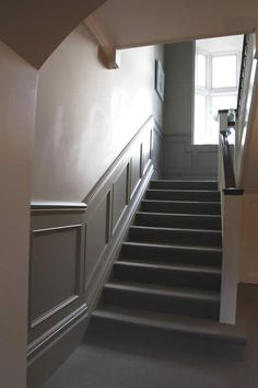 Made to order beaded stair panelling by the  wall panelling team of  experts : ))x