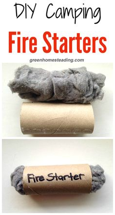DIY Camping Fire Starters - - DIY Camping Fire Starters: These little guys super easy to make and are the perfect fire starter aids, just wonderful for camping trips! You will be re-using your old toilet paper rolls and dryer l…. Diy Camping, Camping Hacks With Kids, Camping In Nj, Zelt Camping, Camping Snacks, Camping Survival, Family Camping, Outdoor Camping, Winter Camping