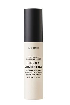 """Mecca Cosmetica Soft Focus Primer    """"This is part of our signature line, and the new primer has sailed well above its projected targets and been a huge hit with customers, especially going into fall when women want more hydration and skin support,"""" says Horgan.  #refinery29 http://www.refinery29.com/international-best-selling-beauty-products#slide-18"""