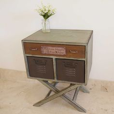 Agnese industrial bedside cabinet on stand £88.00