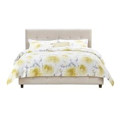 DHP Rose Tan Linen Upholstered Bed - 16925627 - Overstock.com Shopping - Great Deals on DHP Beds