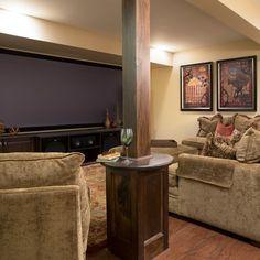 how to hide a structual pole | 95,793 basement columns Home Design Photos
