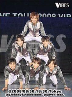 V6 in2008 VIBES concert Masayuki Sakamoto Hiroshi Nagano Yoshihiko Inohara Go Morita Ken Miyake Junichi Okada Nagano