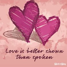 Love speaks even without using words ........ ACTIONS ❤