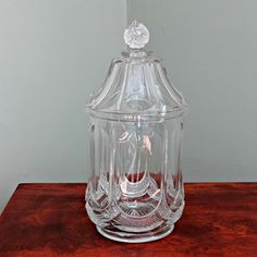 EAPG Galloway Glass Cracker Jar Early by BarbsVintageFinds on Etsy