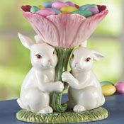 Bunny Friends Candy Dish Spring Decoration