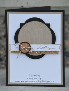 Along Came Stamping: The White Challenge - I love you! #StampinUp #BestOfGreetings #framelits #Love