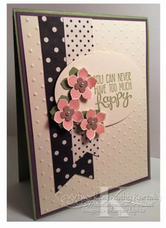 It's a Faithful INKspirations Color Challenge! Check out my blog if you'd like to play along: kkstamp.blogspot.com. This card uses Stampin' Up's Yippee Skippee! and Petite Petals stamp sets.