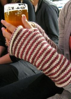 These casually-fitting fingerless gloves are a great stash buster! Grab 2 half-used skeins and knit them up!