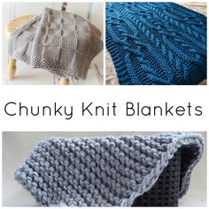 When the weather outside is frightful, a chunky knit blanket will keep you warm! Made with bulky yarn, these patterns work up in just a weekend.