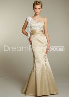 Fabulous Lace Mermaid/Trumpet Floor-length One-Shoulder Bridesmaid Dresses