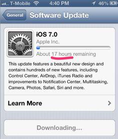 Se saturan los servidores de Apple ante la demanda por descargar el iOS 7