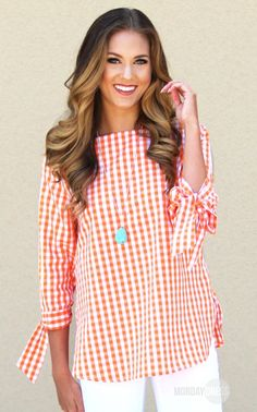 Sunday In The Park Top in Orange | Monday Dress Boutique