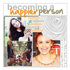 """becoming a happier person"" by vanessadxy ❤ liked on Polyvore featuring art, modern, tipsbyvanessa and stefsetparty"