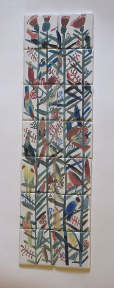 Great colours and freedom laura carlin tiles Clay Tiles, Mosaic Tiles, Tile Art, Ceramic Pottery, Ceramic Art, Ceramic Design, Decorative Tile, Pattern Wallpaper, Bunt