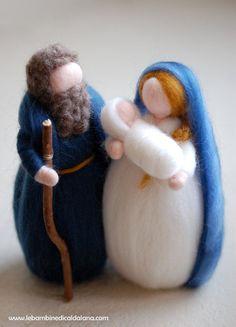 Nativity, Nativity tale Waldorf-inspired wool by LeBambinediCaldalana #italiasmartteam #etsy #christmasgift