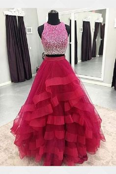 Two Pieces Prom Dress,Long Homecoming Dress Homecoming Dress, Long Homecoming Dress, Prom Dresses Two Piece, Prom Dress Homecoming Dresses 2019 Homecoming Dresses Long, A Line Prom Dresses, Ball Gowns Prom, Tulle Prom Dress, Cheap Prom Dresses, Party Dresses For Women, Quinceanera Dresses, Formal Evening Dresses, Party Gowns