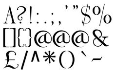 fonts and punctuation marks - Google Search