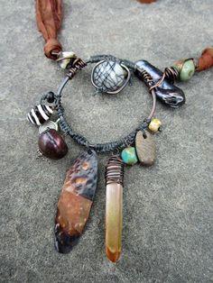 Tribal Talisman Necklace. $80.00, via Etsy.