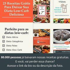 Link: http://ift.tt/29YBk7P . Mais de 80 mil pessoas já baixaram nossos livros grátis de receitas low-carb para todas as horas . Se você não baixou ainda não perca mais tempo e comece a emagrecer comendo deliciosamente bem acesse: http://ift.tt/29YBk7P . . Lá você vai encontrar: . - 4 receitas de café da manhã low-carb - 4 receitas de sobremesas low-carb - 4 receitas de sopas low-carb - 7 receitas de smoothies low-carb - 7 receitas para todas as horas . E o melhor é que elas servem para…