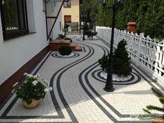 Landscape Stairs, Front Garden Landscape, Garden Paving, Landscape Design, Outdoor Walkway, Backyard Patio, Backyard Landscaping, Driveway Design, Yard Design