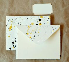 Splatter Paint Note Card Set - by Fleur d'Elise