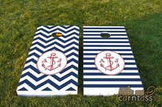Nautical Themed Corn Hole Boards | Creative Corn Hole Boards To Inspire Your Next Backyard Game Night