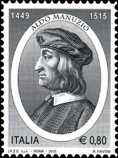 Stamp: 500th anniv. of the death of Aldo Manuzio (Italy) Mi:IT 3768,Yt:IT…