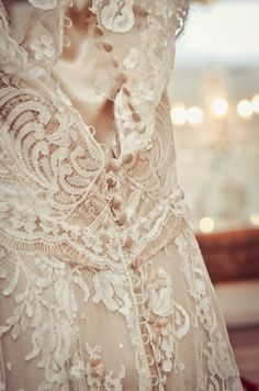 Crochet Vintage Lace Wedding Dress