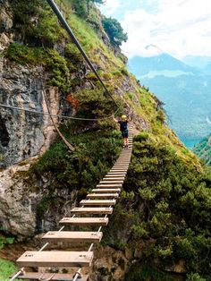 Grünstein-Klettersteig - Optimal for beginners - Reisen Europe Destinations, Outdoor Fun, Outdoor Travel, Places To Travel, Places To Visit, Road Trip Hacks, Journey, Backpacking Europe, Romantic Travel