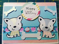 Happy woof day! #card #greetingcards #cuteanimals #crafty #craftymomma #crafts #cricut #handmade #handmadewithlove #noodlesthewestie #nhlife #cute #westie #westiemania #westhighlandterrier #강아지옷 #강아지 #강아지스타그램 #white #instacraft #instadaily #instapet #byemilie #byemiliedesigns #dogsarefamily #petstagram #mykidshavepaws #nhmade