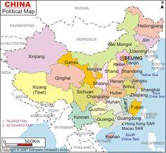 mapa politico de china - Buscar con Google