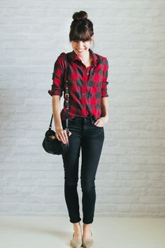 Casual buffalo plaid