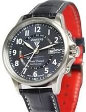 Junkers Mountain Wave Project 40mm Quartz GMT Dual Time Watch #6844-3