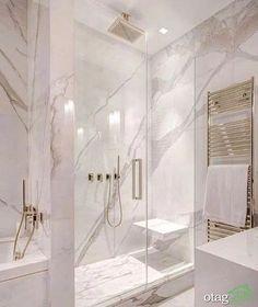 White and gray bathroom - # white - Badgestaltung ideen - Badezimmer Modern Master Bathroom, Grey Bathrooms, Beautiful Bathrooms, Bathroom Marble, Bathroom Mirrors, Bathroom Cabinets, Luxury Bathrooms, Minimalist Bathroom, Master Bathrooms