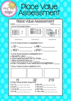 Place Value Assessme