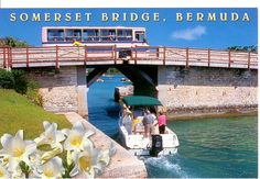 Somerset Bridge, Bermuda - the smallest drawbridge in the world. Bermuda Travel, Small Bridge, Tourism Poster, Another World, Small World, Beautiful Islands, Staycation, Somerset, Places To Visit