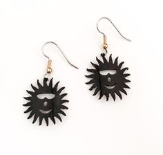Upcycled Sun Earrings recycled bicycle inner tubes by pearlreef, $15.00